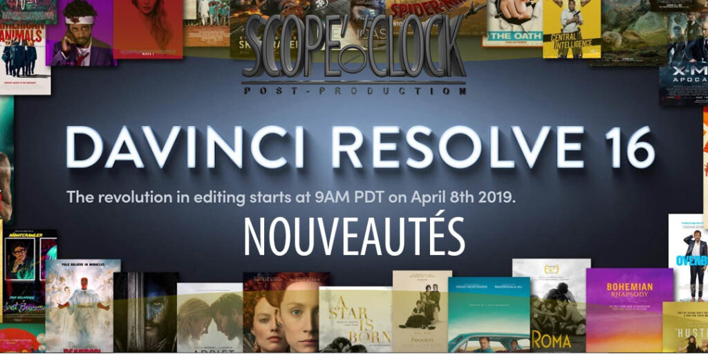 Le nouveau Davinci Resolve 16