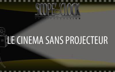 Un écran de cinéma sans projecteur