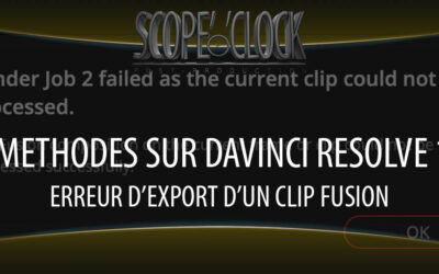 Davinci Resolve 16 Fusion Clip can't be Processed Error